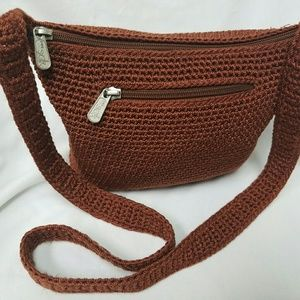 THE SAK Crossbody Crochet Small Woven Knit Handbag